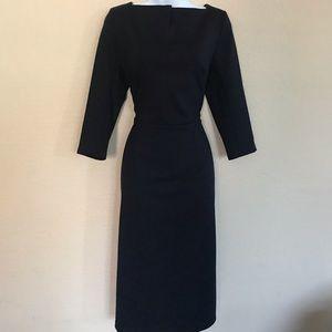 Marycrafts Business Square Neck Sheath Midi Dress.
